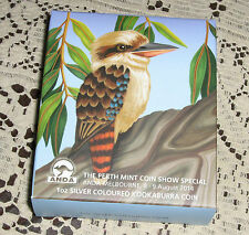 2014 Perth Mint ANDA Melbourne Coin Show Ounce Kookaburra Coin Low Mintage 2000