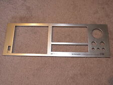 PIONEER Model CT-F850 stereo cassette deck parts- used front metal faceplate