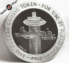 $5 FULL PROOF STERLING SILVER SLOT TOKEN LANDMARK TOWER CASINO 1967 LAS VEGAS NV