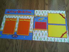 "Astro Orbitor 2 Page Scrapbook Layout 12""x12"" Disney Rocket Ride, Disneyland"