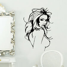 New Sexy Naked Lady hair Quote Wall sticker Wallpaper wall decals Art  mural