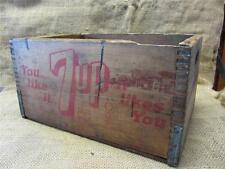 Vintage Wooden 7UP Crate   Antique Old Seven Up Sign Signs Soda Cola 8511