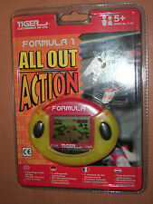 1999 VINTAGE ALL OUT ACTION FORMULA ONE 1 ELECTRONIC GAME TIGER HAND HELD MOC