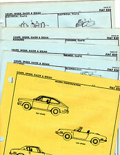 FIAT 850 COUPE SPIDER RACER SEDAN BODY PARTS FRAME CRASH SHEETS ORIGINALS MF 2