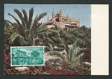 Spain Mk 1967 Palma de Mallorca catedral maximum mapa maximum card mc cm c9070
