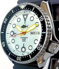 Vintage SEIKO 7S26 diver SKX mod w/Plongeur hands & WHITE Mother of Pearl dial !