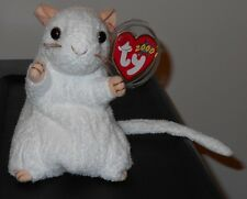 NM* Ty Beanie Baby ~ CHEEZER the White Mouse ~ NEAR MINT with MINT TAGS