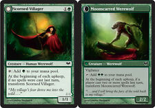 Scorned Villager // Moonscarred Werewolf x4 Magic the Gathering 4x Dark Ascensio