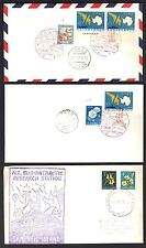 JAPAN NEW ZEALAND 1967 THREE ANTARCTIC COVERS POSTED ON BOARD RESEARCH SHIPS