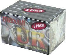 NUOVO Maxell UR90 90 Minuti Vuoto Media AUDIO REGISTRAZIONE CASSETTA NASTRO - 5 pack
