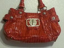 Guess Purse Red Patent Leather Medume Size