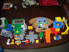 Fisher Price Geo Trax All About Trains Motorized Set H4648 Crane, Coal And MORE