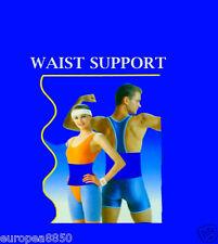 NEOPRENE LOWER BACK WAIST LUMBAR SUPPORT BELT SPORT BACKACHE MEN WOMEN