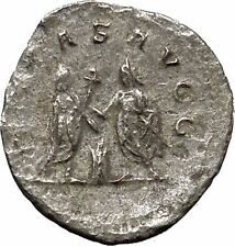 Valerian I & his son Gallienus sacrificing Rare Silver Ancient Roman Coin i46892