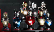 HOT TOYS IRON MAN 3 DELUXE COLLECTIBLE BUSTS SET (8 PIECE) 1/6 SCALE FIGURE NEW