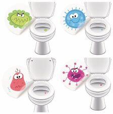 Toilettensticker MONSTER SET, Urinal Aufkleber Sticker für Toiletten Badzubehör