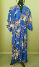 Adult Women's Asian Kimono Halloween Costume Japanese One Size Blue