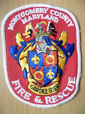 Patches: MONTGOMERY COUNTY MARYLAND FIRE & RESCUE PATCH (New, approx.5x3.11)