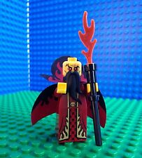 Lego EVIL WIZARD Minifigures Castle Kingdoms Sorceror Cape Staff 71008 Series 13
