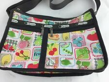 LeSportSac Deluxe Everyday Crossbody Messenger Tote Bag Farmers Market Veggies
