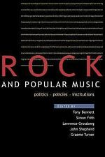 Rock and Popular Music: Politics, Policies, Instruments (Culture)-ExLibrary