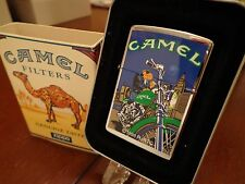 JOE CAMEL MOON & MOTORCYCLE WTC NYC ZIPPO LIGHTER MINT IN BOX 1997