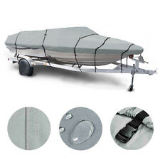 "17 18 19' Trailerable Fish Ski Boat Cover 600D V-Hull Beam 95"" w Oxford Bag Gray"