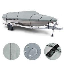 "17 18 19' Trailerable Fish Ski Boat Cover 600D V-Hull Beam 95"" w Oxford Bag Gray"