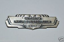 RARE Vintage 1957 Wichita Rifle & Pistol Club Pewter? Metal? Pin Hat Kansas VHTF
