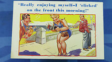 Comic Postcard 1930s Photography Photograph Photo Camera CLICKED Bathing Beauty