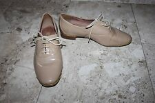 Ladies Nude Patent Next Shoes Size 38 UK 5 Lace Up