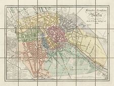 MAP ANTIQUE 1832 REYMANN BERLIN CITY PLAN OLD LARGE REPLICA POSTER PRINT PAM0291