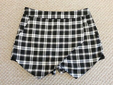 VERA LUCY Black White Check SKORT skirt Shorts hot pants S8 lace crop top blouse
