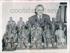 1944 Sculptor Max Kalish & His Bronze President Sculptures Press Photo