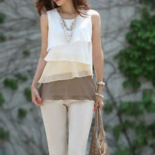 Chiffon Women Summer Casual Vest Top Sleeveless Blouse Tank Blouse Tops T-Shirt