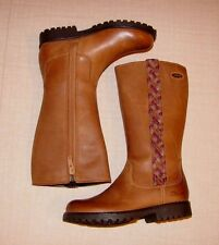 """Rhea Kate GTX""Clark's Girl's Tan Leather Boots size 7.5 F."