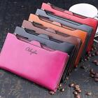 New Women's Fashion Clutch Zipper Leather Long Handbag Lady's Coin Purse