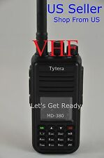 TYT MD380 VHF Analog/Digital DMR Radio + USB cable + Software US Seller