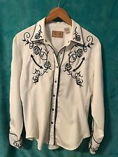 SCULLY WOMENS WESTERN ROSE EMBROIDERED WESTERN SHOW BLOUSE