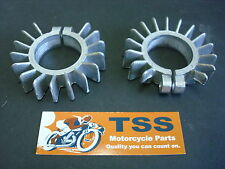 71-2466 TRIUMPH 500 T100 FINNED EXHAUST CLAMPS PAIR