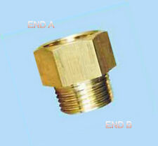 "1/2"" Female NPT to 1/2"" Male NPT Coupling Brass Pipe Fitting Gauge adapter N-DK"