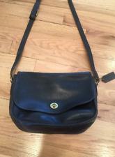Vintage Authentic Coach Black Leather Shoulder Bag