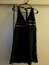 BABY PHAT Womens XL Swimsuit Cover Up Black/Gold  nwt $48