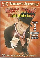 MAX'S MAGIC VOLUME 3 MAGIC MADE EASY DVD (KIDS) - THE CONJURING AND THE CULINARY