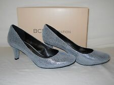 BCBGeneration BCBG Generation New Womens Gumby Pewter Leather Heels 7.5 M Shoes