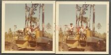 3 Vintage Photos Hillbilly Family on Swamp Buggy WWII Surplus 4x4 Truck 662500