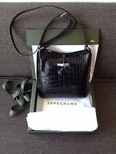 Longchamp Roseau Crossbody Patent-Leather Black Bag - New in a Box