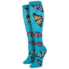 Socksmith Women's Knee High Socks Butterfly Blue Novelty Footwear Foot Apparel