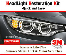 Headlight Plastic Lens Restoration foggy scratched light Polish Cleaner Car Kit