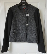 M&S Limited Collection Black Mix SZ 8 Wool Blend Jacket, BNWT, Was £59